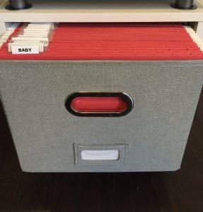 file folders in drawer