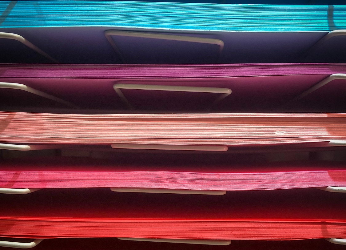 colorful sorted paper