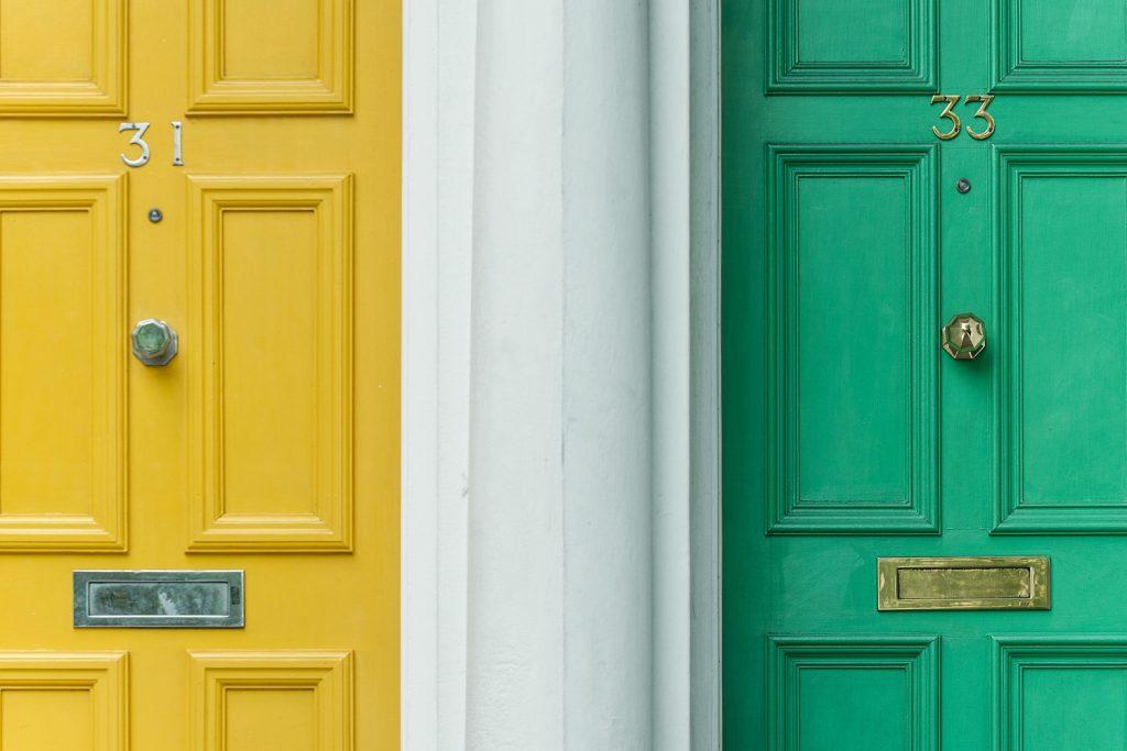 comparing 2 doors