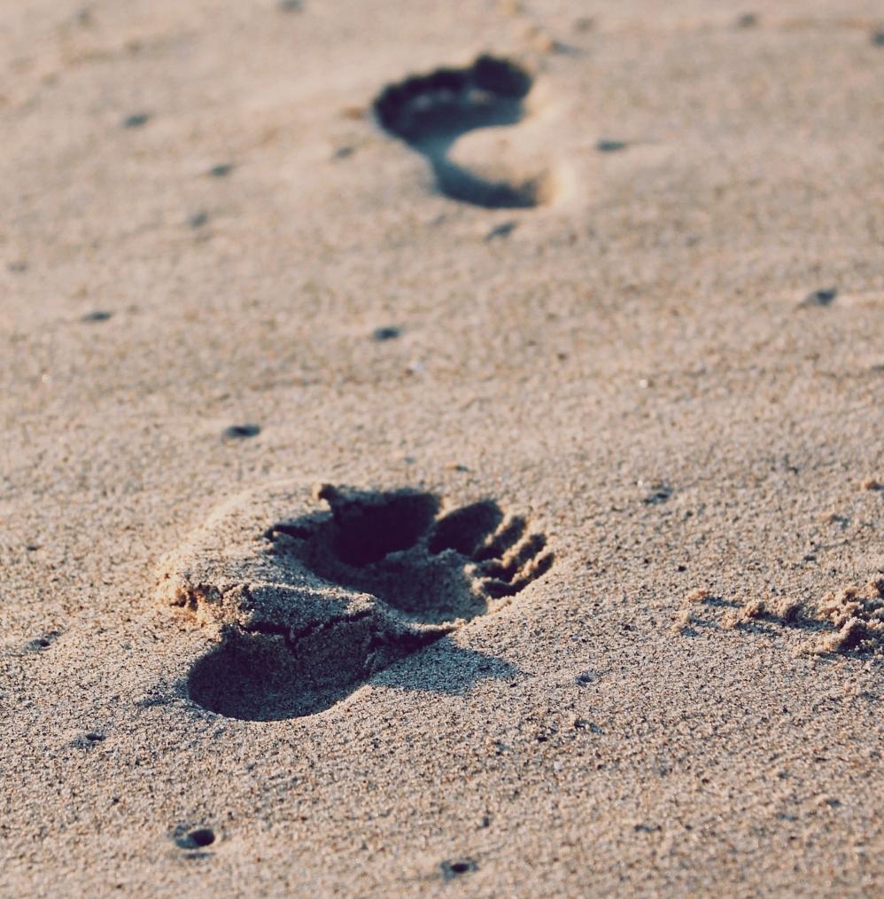 footsteps symbolizing progress